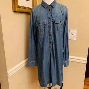 J Crew Denim Shift Dress, sz 10